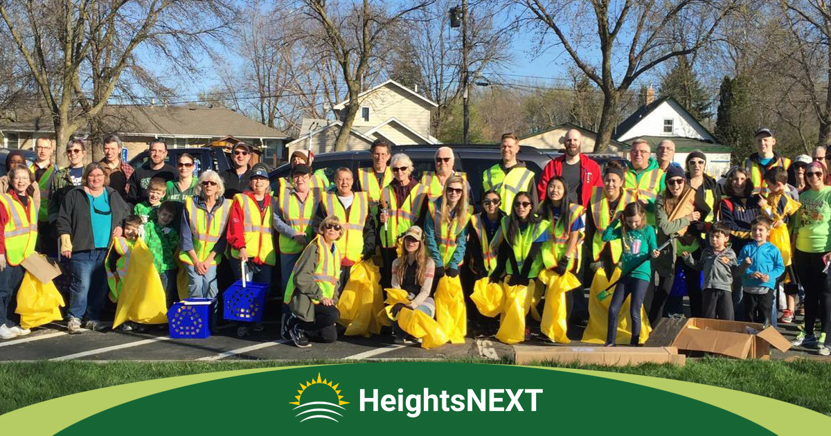 Membership is not required to join a HeightsNEXT street cleanup event!