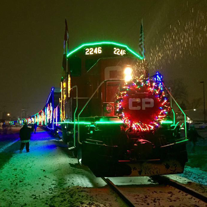 The Canadian Pacific Holiday Train stopped in Columbia Heights, MN