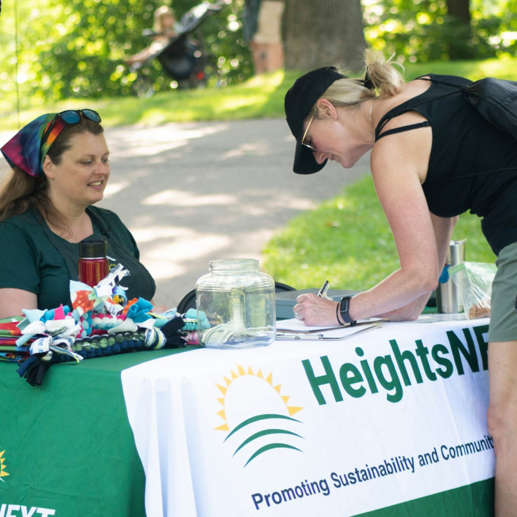 Signing up for a sustaining membership helps HeightsNEXT fund sustainable activities in Columbia Heights, MN.