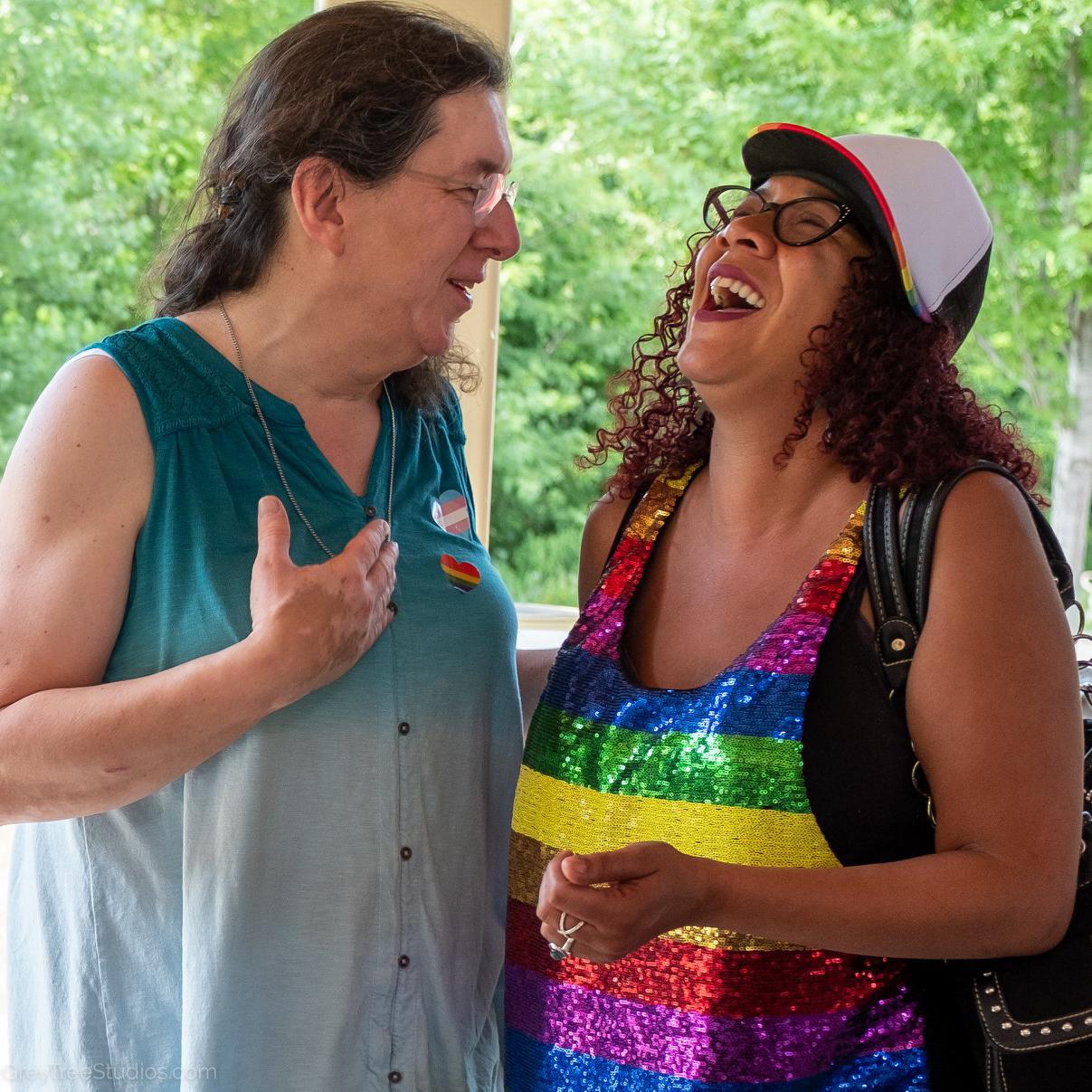 LGBTQ people laughing