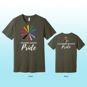 Columbia Heights PRIDE T-shirt (olive)