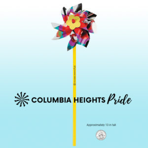 Columbia Heights PRIDE pinwheel toy decoration
