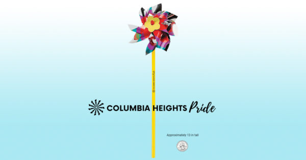 Columbia Heights PRIDE pinwheel toy decoration