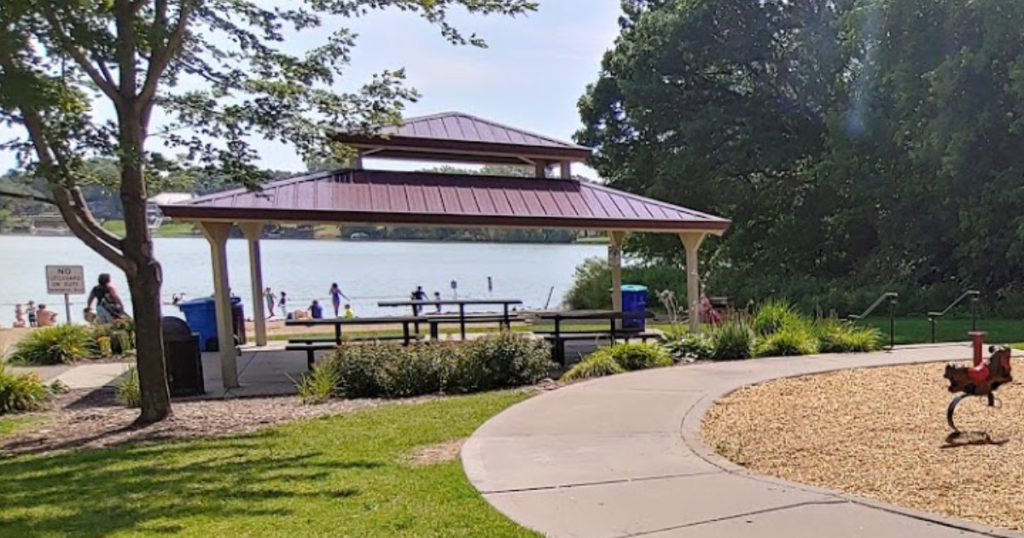 Silver Lake Beach Park in Columbia Heights, MN.