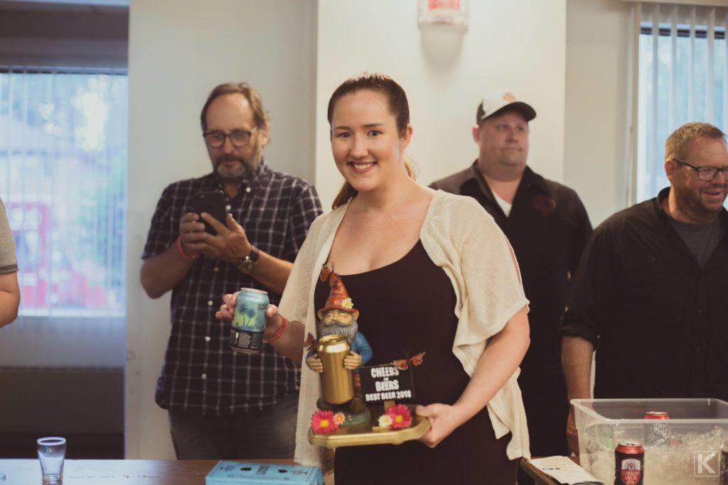 Winner of the 2018 Cheers for Beers sampling event.