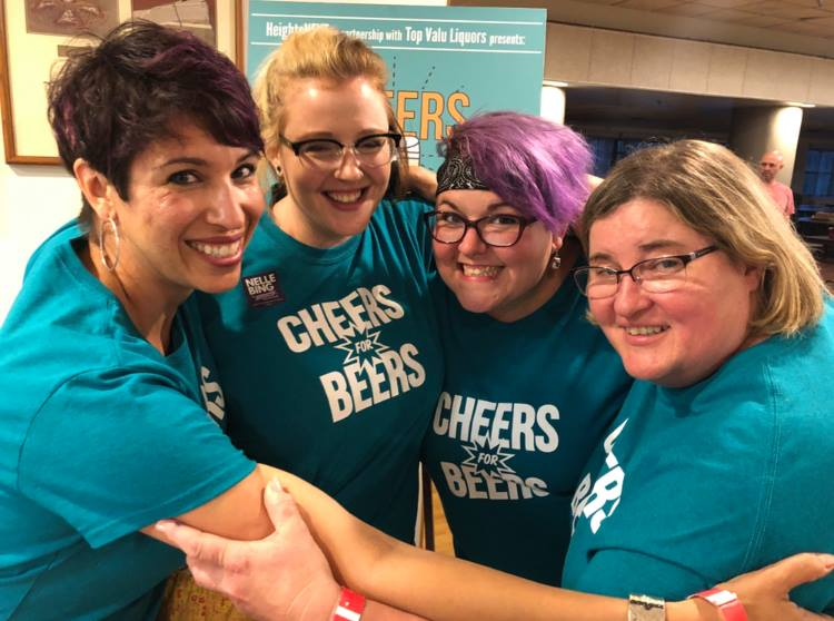 Cheers for Beers volunteers.