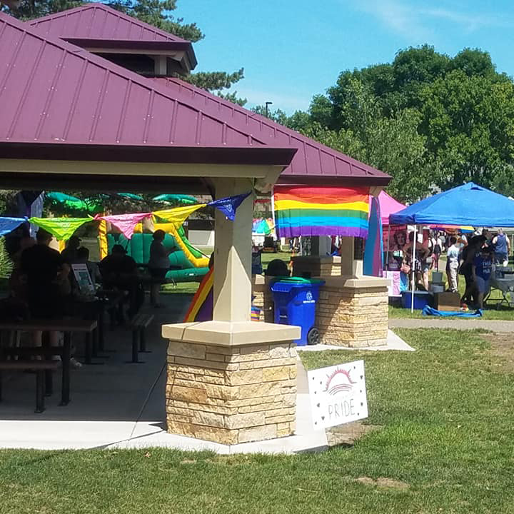 PRIDE festival at Sullivan Lake Park in Columbia Heights, MN
