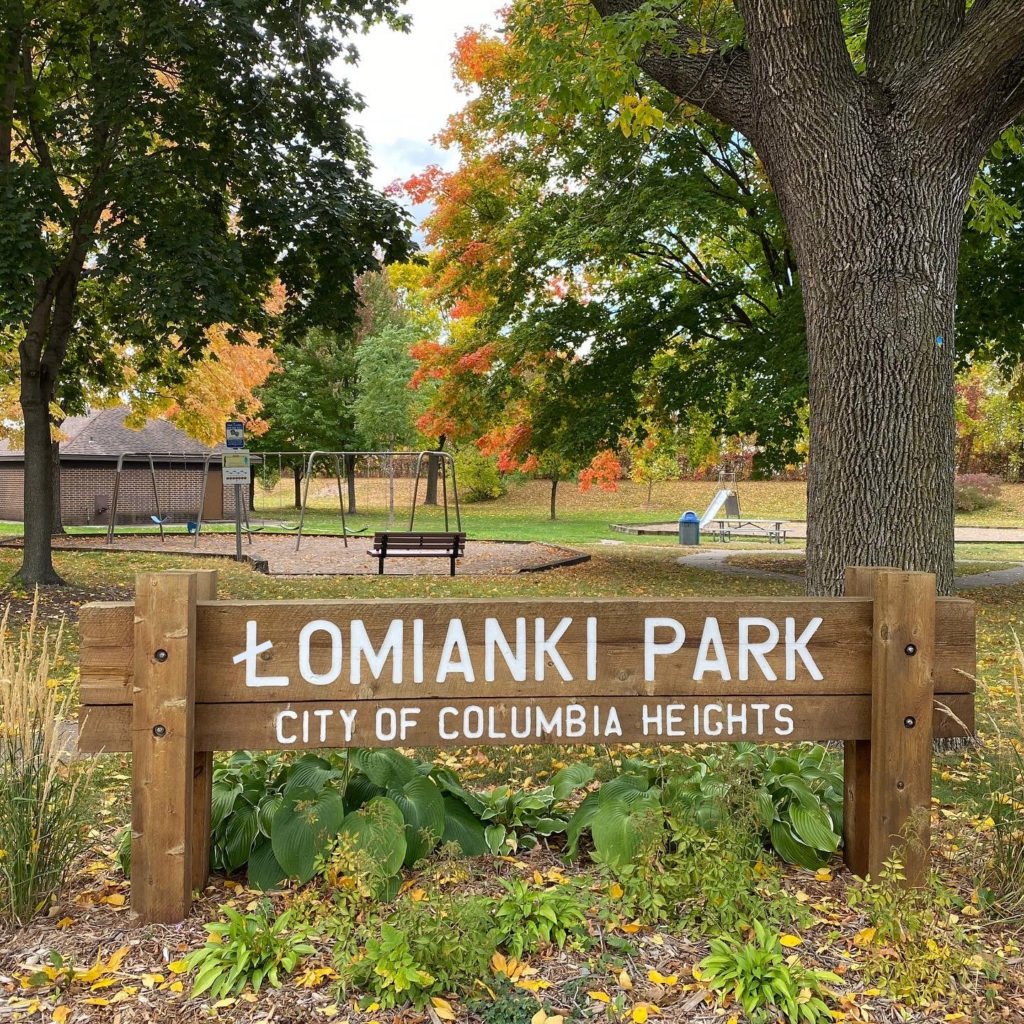 Łomianki Park in the City of Columbia Heights, MN
