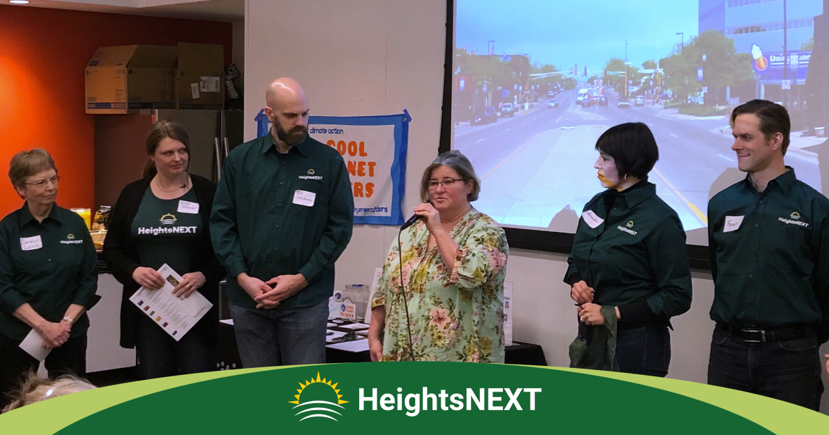 Board members of HeightsNEXT give their 2019 Annual Report at the Columbia Heights Public Library.