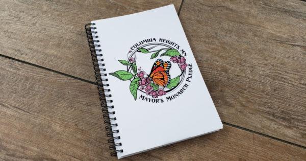 Mayor's Monarch Pledge notebook